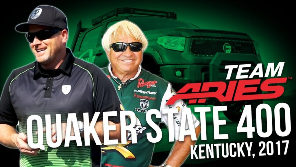TEAM ARIES WITH TOMMY PIKE AND JIMMY HOUSTON AT QUAKER STATE 400